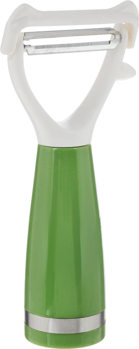 Овощечистка Sterlingg, длина 16 см23322Овощечистка Sterlingg выполнена из металла и пластика. Очень удобная ручка не позволит выскользнуть овощечистке из вашей руки. Удобная овощечистка Sterlingg поможет вам очень быстро и без особого усилия почистить овощи.Можно мыть в посудомоечной машине.Общая длина овощечистки: 16 см.