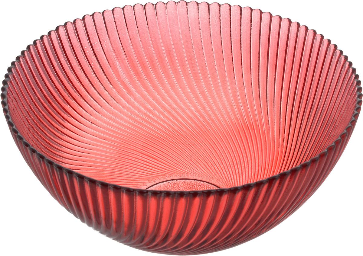 Салатник NiNaGlass Альтера, цвет: рубиновый, диаметр 16 см салатник nina glass ажур цвет сиреневый диаметр 16 см