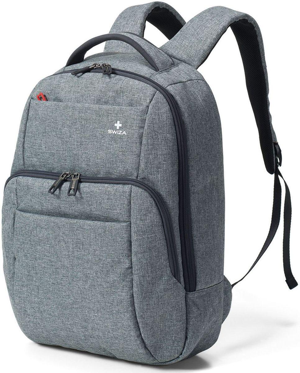 Рюкзак городской SWIZA Portas, цвет: серый, 13 лBBP.1000.01 Этот стройный контур модного серого рюкзак PORTAS обладает продуманной и очень многофункциональной системой организационных карманов для стильного бизнесмена или бизнес-леди, а также для модного энергичного студента