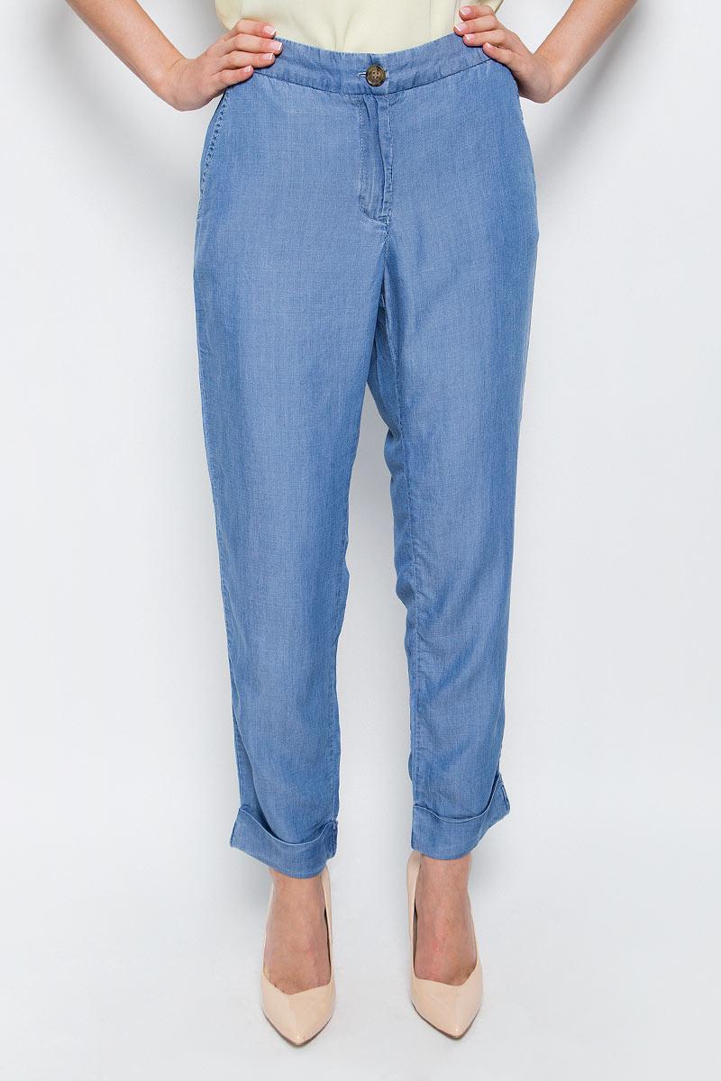 Брюки женские Baon, цвет: голубой. B297024_Light Blue Denim. Размер M (46) брюки женские baon цвет голубой b298028