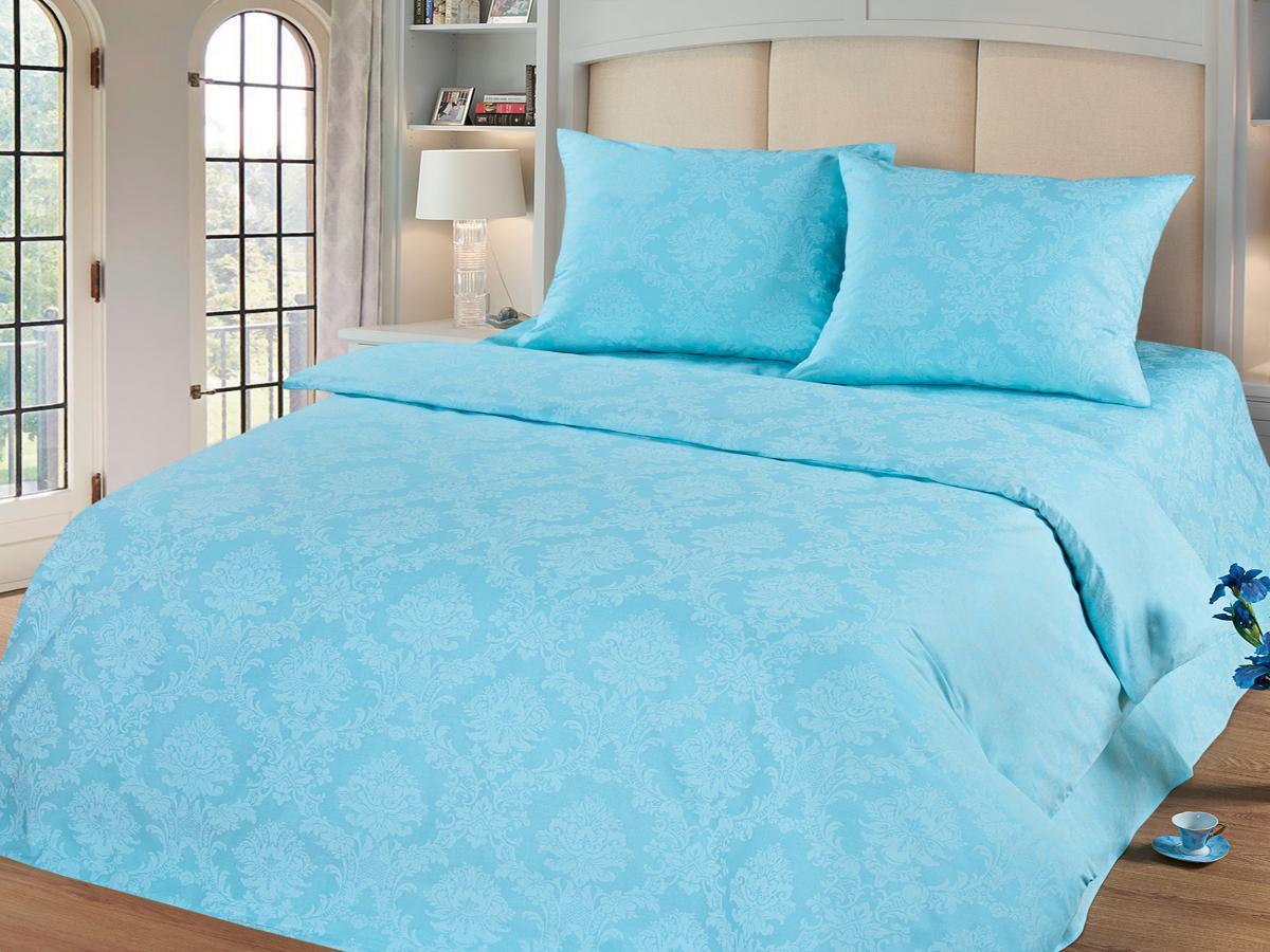 Комплект белья Cleo Аквамарин, 1,5-спальный, наволочки 70х70, цвет: голубой15/006-PGКомплект постельного белья Cleo выполнен из поплина в романтическом стиле, визуально текстура нанесения рисунка напоминает жаккард. Поплин - 100% хлопок, ему характерен репсовый эффект, который образуется методом чередования толстых и тонких нитей, в результате на поверхности появляются рубчики, создавая неравномерность полотна. Постельное белье из поплина обладает рядом преимуществ: мягкое и шелковистое, натуральное, экологически чистое, гипоаллергенное, прочное, не деформируется, не растягивается и держит форму, пропускает воду и воздух, прекрасно стирается в прохладной воде. Комплект состоит из пододеяльника, простыни и двух наволочек.