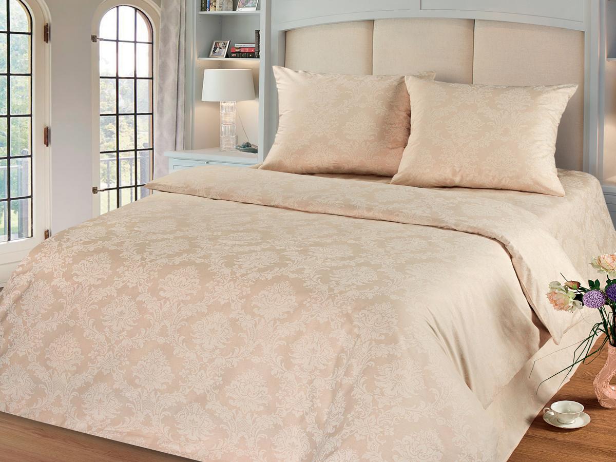 Комплект белья Cleo Жемчуг, 2-спальный, наволочки 70х70, цвет: бежевый20/004-PGКомплект постельного белья Cleo выполнен из поплина в романтическом стиле, визуально текстура нанесения рисунка напоминает жаккард. Поплин - 100% хлопок, ему характерен репсовый эффект, который образуется методом чередования толстых и тонких нитей, в результате на поверхности появляются рубчики, создавая неравномерность полотна. Постельное белье из поплина обладает рядом преимуществ: мягкое и шелковистое, натуральное, экологически чистое, гипоаллергенное, прочное, не деформируется, не растягивается и держит форму, пропускает воду и воздух, прекрасно стирается в прохладной воде. Комплект состоит из пододеяльника, простыни и двух наволочек.