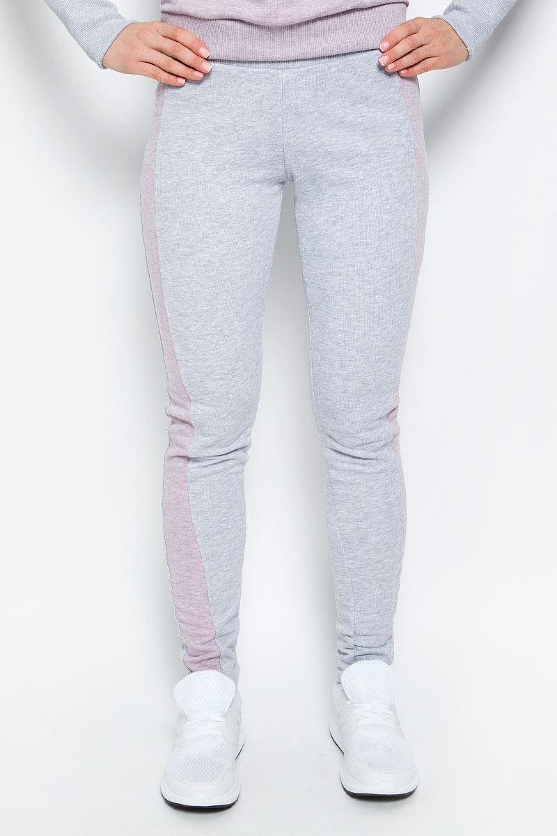 Брюки спортивные женские Grishko, цвет: серый, розовый. AL-3110. Размер M (46)  - купить со скидкой