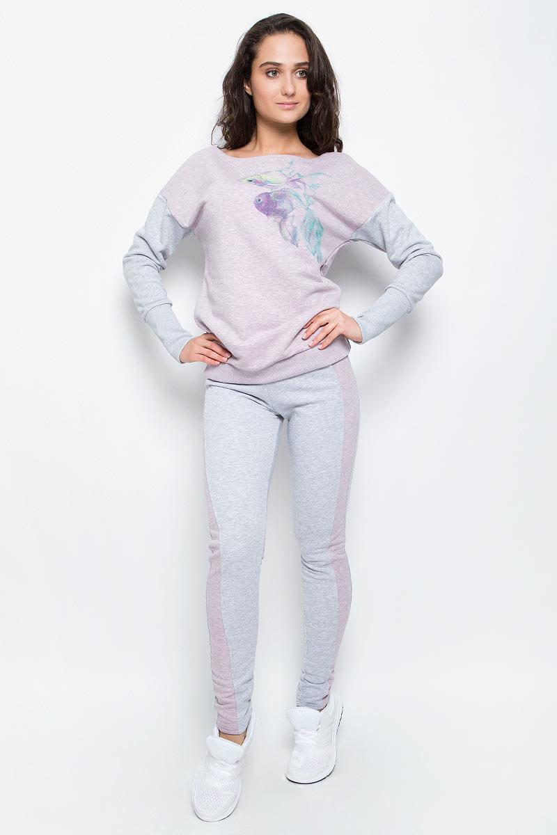 Брюки спортивные женские Grishko, цвет: серый, розовый. AL-3110. Размер M (46)AL-3110Суперкомфортные брюки Grishko прямого кроя с лампасами и эластичным поясом прекрасно подойдут для спортивных тренировок и прогулок на свежем воздухе. Модель изготовлена с вставками контрастного цвета, создающими стройный силуэт. Выполнена из мягкого меланжированнного хлопка с лайкрой нового поколения - необычайно качественного и приятного на ощупь материала.