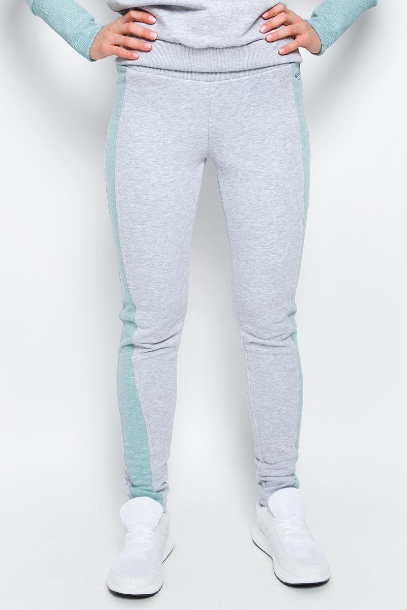 Брюки спортивные женские Grishko, цвет: серый, зеленый. AL-3110. Размер S (44) брюки grishko брюки на резинке