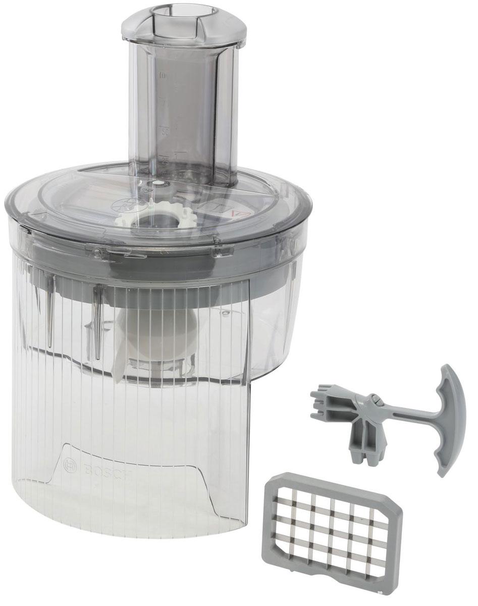 Bosch MUZ8CC2 насадка для нарезки кубиками для кухонных комбайновMUZ8CC2Какой новогодний стол без салата оливье? С помощью насадки-кубикорезки Bosch MUZ8CC2 приготовление любимого блюда займёт считанные минуты! Идеальная принадлежность для приготовления салатов, окрошки, брускетты.Размеры кубиков: 9 x 9 мм и 13 x 13 мм (высота кубиков 9 мм)