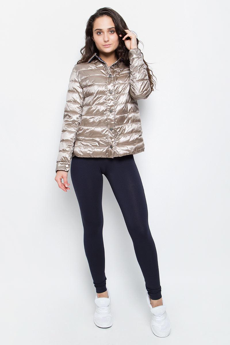 Куртка женская Grishko, цвет: бежевый. AL-3123. Размер L (48)AL-3123Необыкновенно женственная стеганая куртка Grishko утеплена тонким холлофайбером. Эффектная контрастная отделка, отложной воротничок, пиджачный силуэт с разрезами на бедрах делают модель абсолютно универсальной вещью в гардеробе любой модницы. Куртка прекрасно смотрится и с платьем и с джинсами, что делает ее незаменимой для городских будней и беззаботных выходных в новом весенне-летнем сезоне. Холлофайбер - это утеплитель, который отличается повышенной теплоизоляцией, антибактериальными свойствами, долговечностью в использовании,и необычайно легок в носке и уходе. Изделия легко стираются в машинке, не теряя первоначального внешнего вида.