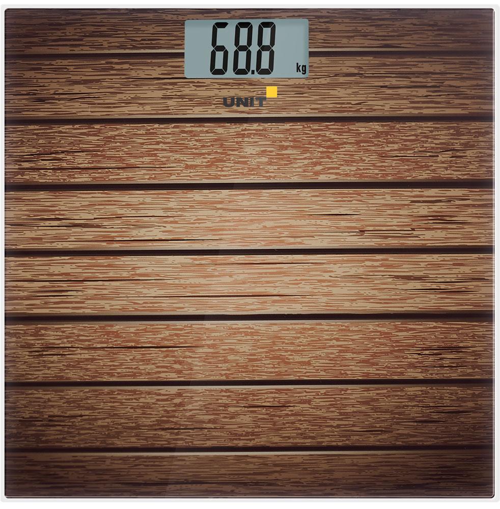 Unit UBS-2056, Brown весы напольные электронныеCE-0462770Напольные электронные весы Unit UBS-2056 - неотъемлемый атрибут здорового образа жизни. Они необходимы тем, кто следит за своим здоровьем, весом, ведет активный образ жизни, занимается спортом и фитнесом. Очень удобны для будущих мам, постоянно контролирующих прибавку в весе, также рекомендуются родителям, внимательно следящим за весом своих детей.