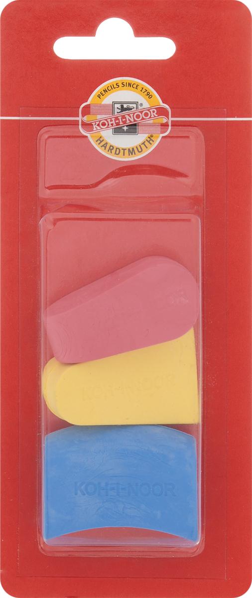 Koh-i-Noor Набор ластиков цвет красный желтый синий 3 шт -  Чертежные принадлежности
