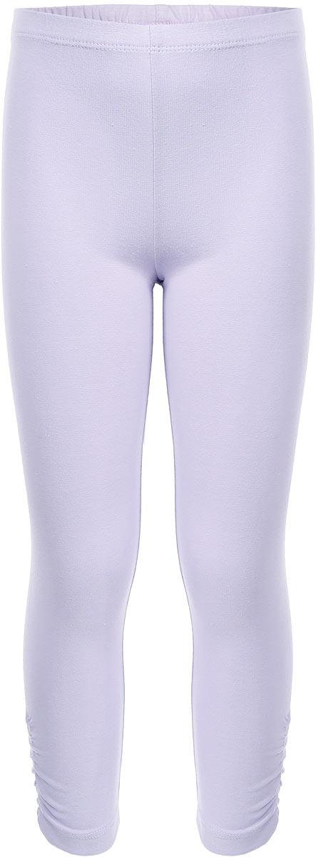 Лосины укороченные для девочки Sela, цвет: бледно-сиреневый. PLGs-515/386-7253. Размер 116, 6 лет лосины для девочки m&d цвет бирюза мультиколор м33228 размер 116