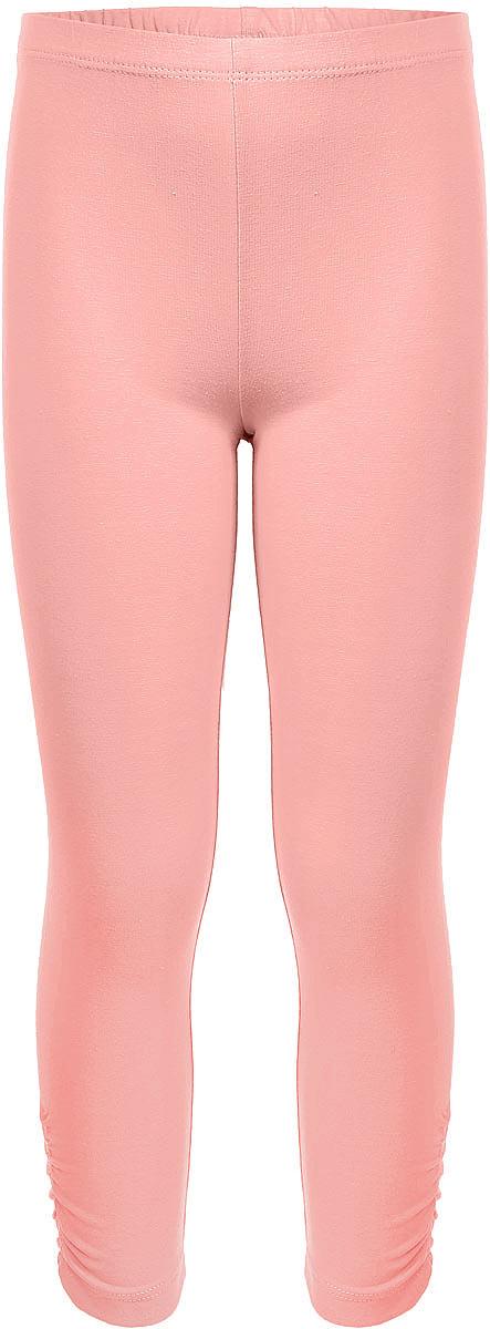 Лосины укороченные для девочки Sela, цвет: бледно-оранжевый. PLGs-515/386-7253. Размер 116, 6 лет лосины для девочки m&d цвет бирюза мультиколор м33228 размер 116
