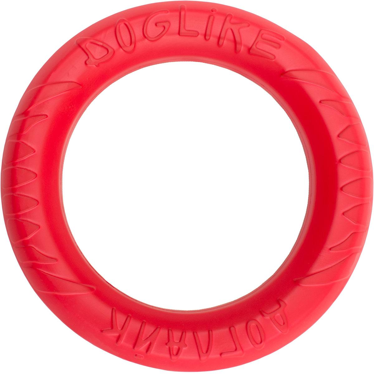 Снаряд Doglike Tug & Twist DL, для дрессировки, цвет: красный. D-1276 игрушка doglike dumbbelldog wood снаряд для апортировки большой деревянный для собак 1кг d 2319