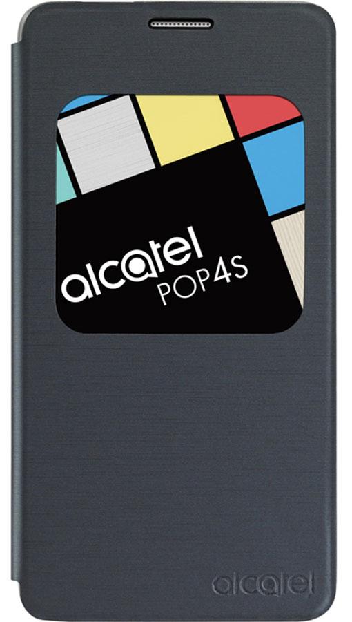 Alcatel AF5095 чехол для Pop 4S (OT-5095), SlateG5095-3AALAFG-RUЧехол-книжка Alcatel AF5095 для Pop 4S (OT-5095) надёжно защищает ваш смартфон от пыли, грязи и механических повреждений. Специальное окошко на лицевой стороне позволяет просматривать предупреждения и сообщения с вашего мобильного устройства на ходу, не открывая сам чехол. Конструкция чехла обеспечивает свободный доступ ко всем разъемам и кнопкам управления.