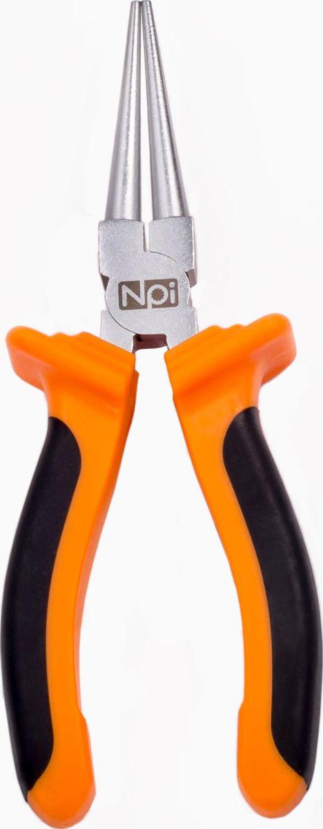 Круглогубцы NPI, 160 мм10020Круглогубцы NPI, изготовленные из высокопрочной хром-ванадиевой стали, предназначены для захвата и круглой гибки проволоки и жести. Обрезиненная рукоятка обеспечивает надежный и удобный хват.Длина инструмента: 160 мм.