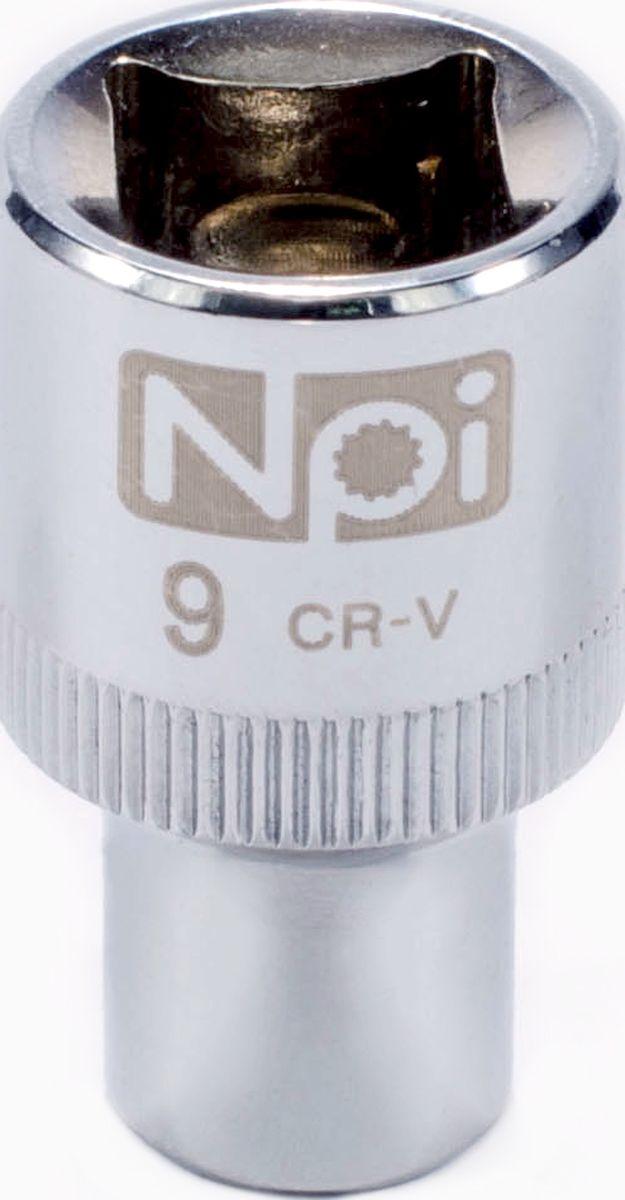 Головка торцевая NPI SuperLock, 1/2, 9 мм20009Торцевая головка NPI выполнена из высокопрочная хром-ванадиевой стали и применяется с гайковертами, трещетками, воротками. Торцевая головка выполнена по технологии Суперлок. Торцевая головка обеспечивает максимальный крутящий момент по отношению к резьбе и выдерживает ударные нагрузки. Размер ключа (метрический): 9 мм.Размер ключа (дюймы): 1/2 .Посадочный размер: 1/2.Длина головки: 38 мм.