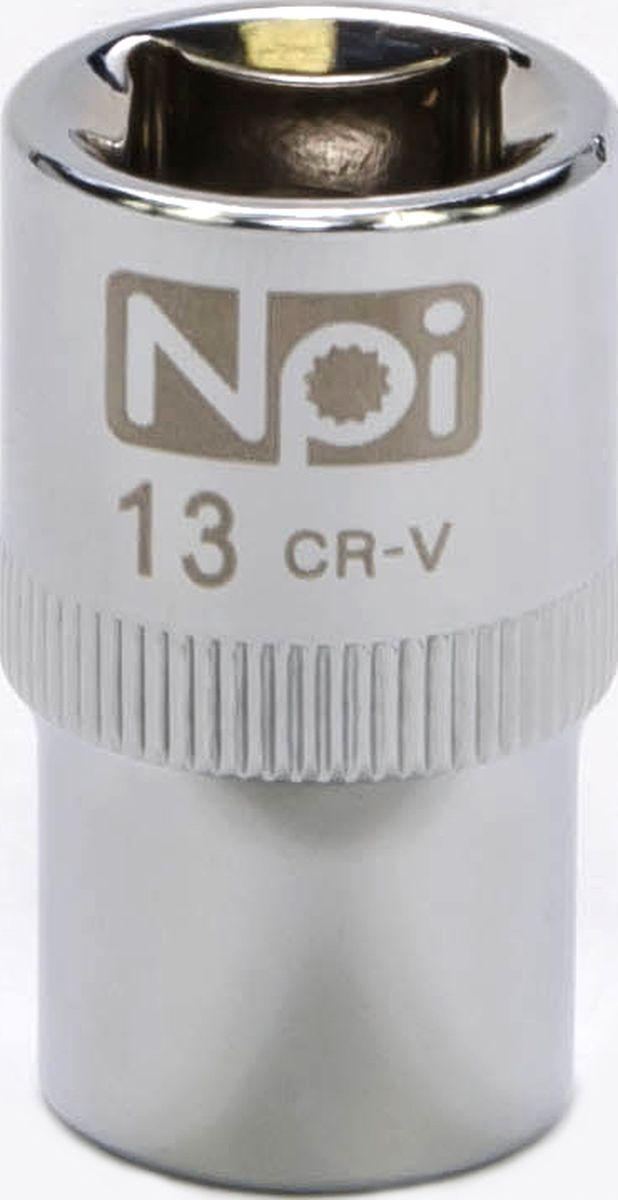 Головка торцевая NPI SuperLock, 1/2, 13 мм20013Торцевая головка NPI выполнена из высокопрочная хром-ванадиевой стали и применяется с гайковертами, трещетками, воротками. Торцевая головка выполнена по технологии Суперлок. Торцевая головка обеспечивает максимальный крутящий момент по отношению к резьбе и выдерживает ударные нагрузки. Размер ключа (метрический): 13 мм.Размер ключа (дюймы): 1/2 .Посадочный размер: 1/2.Длина головки: 38 мм.