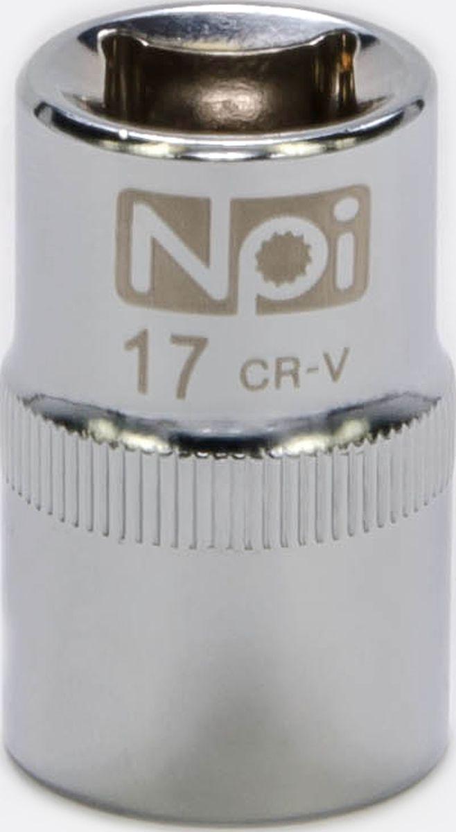 Головка торцевая NPI SuperLock, 1/2, 17 мм20017Торцевая головка NPI выполнена из высокопрочная хром-ванадиевой стали и применяется с гайковертами, трещетками, воротками. Торцевая головка выполнена по технологии Суперлок. Торцевая головка обеспечивает максимальный крутящий момент по отношению к резьбе и выдерживает ударные нагрузки. Размер ключа (метрический): 17 мм.Размер ключа (дюймы): 1/2 .Посадочный размер: 1/2.Длина головки: 38 мм.