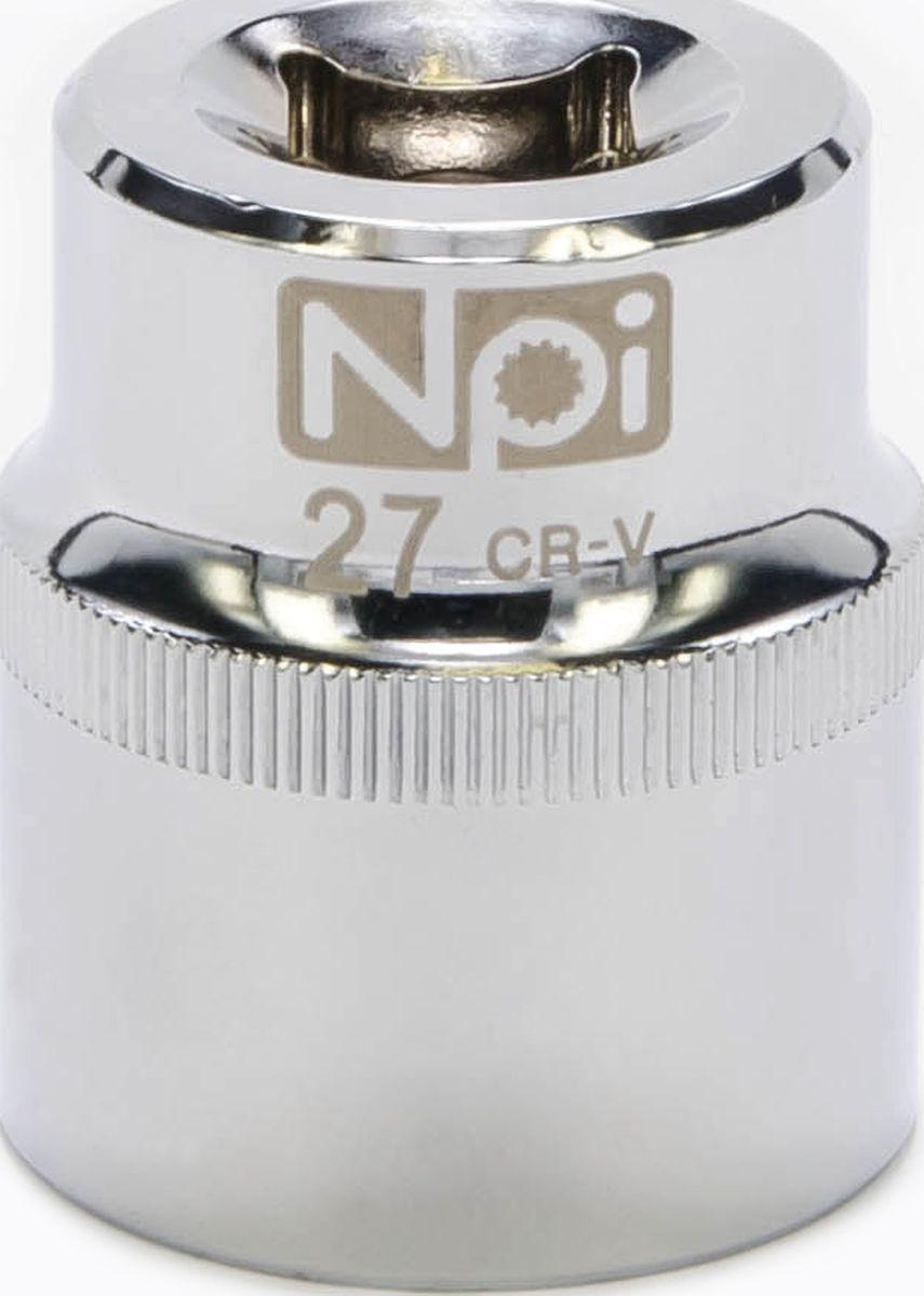 Головка торцевая NPI SuperLock, 1/2, 27 мм20027Торцевая головка NPI выполнена из высокопрочная хром-ванадиевой стали и применяется с гайковертами, трещетками, воротками. Торцевая головка выполнена по технологии Суперлок. Торцевая головка обеспечивает максимальный крутящий момент по отношению к резьбе и выдерживает ударные нагрузки. Размер ключа (метрический): 27 мм.Размер ключа (дюймы): 1/2 .Посадочный размер: 1/2.Длина головки: 42 мм.
