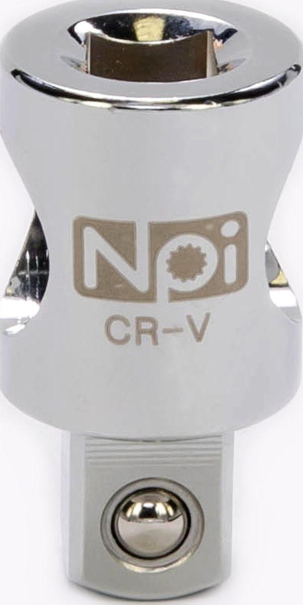 Переходник NPI, 1/2-3/820563Переходник NPI изготовлен из высокопрочной хром-ванадиевой стали. Переходник 3/8 M x 1/2 F. Длина: 37 мм.
