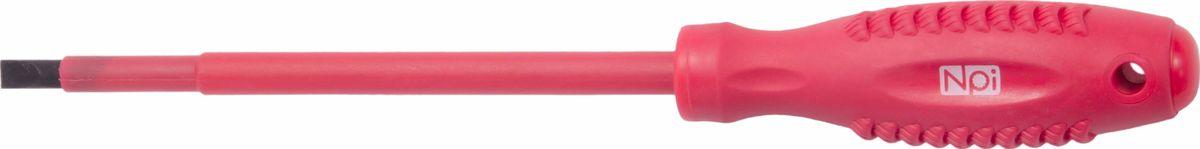 Отвертка шлицевая NPI CrMo электрозащищенная 1000 В, SL6,5 х 150 мм отвертка шлицевая npi crmo sl6 x 150 мм