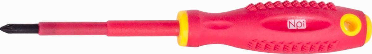 Отвертка крестовая NPI CrMo электрозащищенная 1000 В, PZ1 x 80 мм30062Отвертка крестовая NPI CrMo, изготовленная из высокопрочной хром-молибден-ванадиевой стали, предназначена для монтажа/демонтажа резьбовых соединений. Эргономичная рукоятка обеспечивает электрозащищенность 1000 В. Отвертка имеет магнитный наконечник и удобно подвешивается за специальное отверстие.Тип наконечника: PZ1.Длина жала: 80 мм.