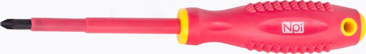 Отвертка крестовая NPI CrMo электрозащищенная 1000 В, PZ2 x 100 мм30063Отвертка крестовая NPI CrMo, изготовленная из высокопрочной хром-молибден-ванадиевой стали, предназначена для монтажа/демонтажа резьбовых соединений. Эргономичная рукоятка обеспечивает электрозащищенность 1000 В. Отвертка имеет магнитный наконечник и удобно подвешивается за специальное отверстие.Тип наконечника: PZ2.Длина жала: 100 мм.