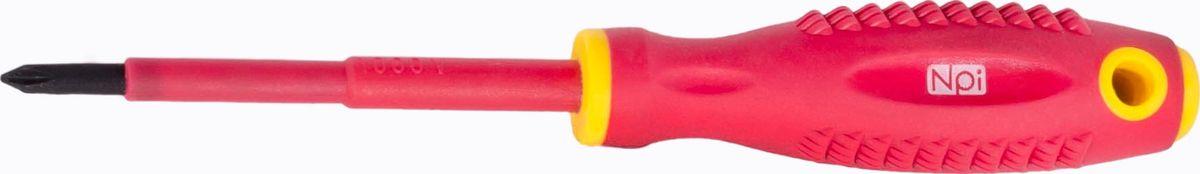 Отвертка крестовая NPI CrMo электрозащищенная 1000 В, PH1 x 80 мм30072Отвертка крестовая NPI CrMo, изготовленная из высокопрочной хром-молибден-ванадиевой стали, предназначена для монтажа/демонтажа резьбовых соединений. Эргономичная рукоятка обеспечивает электрозащищенность 1000 В. Отвертка имеет магнитный наконечник и удобно подвешивается за специальное отверстие.Тип наконечника: PH1.Длина жала: 80 мм.