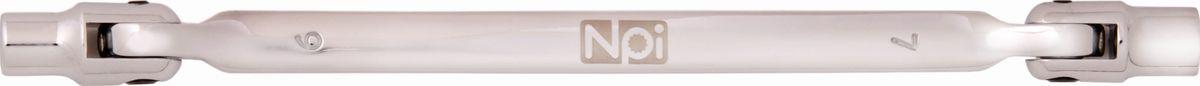 Ключ торцевой NPI, шарнирный, 6 х 7 мм45121Торцевой шарнирный ключ NPI изготовлен из высокопрочной хром-ванадиевой стали. Форма головки - двенадцатигранник, головка выполнена по технологии Суперлок. Угол наклона головки 220 градусов.Длина инструмента: 185 мм.
