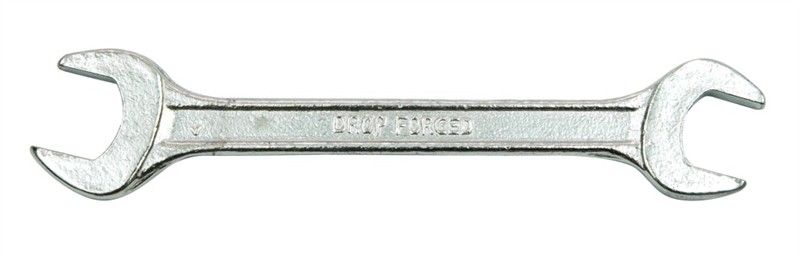 Ключ рожковый Vorel, 17 х 19 мм50190Ключ рожковый двусторонний размером 17 мм и 19 мм выполнен из углеродистой стали. Головки ключа наклонены на 15 градусов, что делает инструмент более маневренным.