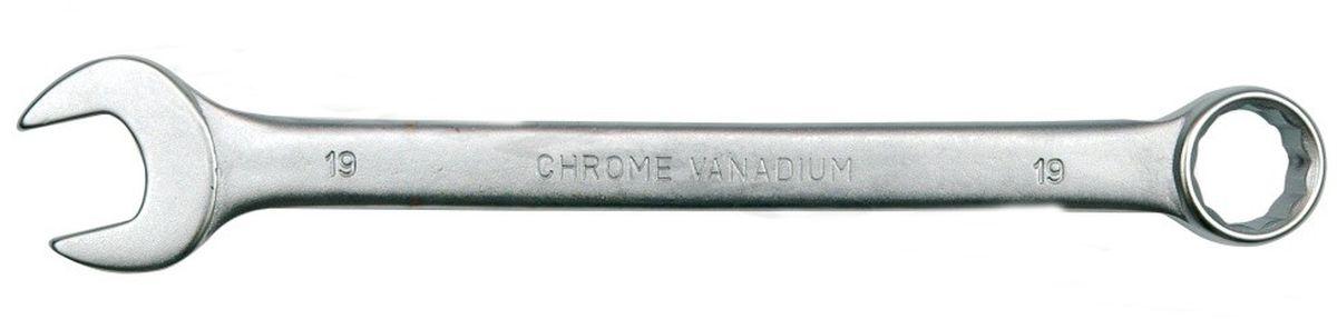 Ключ комбинированный Vorel Сатин CrV, 6 мм51671Ключ гаечный комбинированный изготовлен из высококачественной хром-ванадиевой стали. Финишное прочное хромированное покрытие защищает ключ от воздействия коррозии, делает его более износостойким и легко очищается от загрязнений. Продуманный профиль накидной части ключа смещает пятно контакта с ребра грани на ее поверхность, что предотвращает повреждение болтов и гаек даже при самых высоких нагрузках. Эргономичный профиль рукоятки ключа позволяет развивать большее усилие без риска повреждения кистей рук.