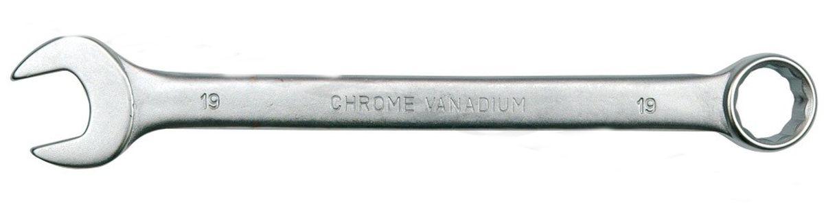 Ключ комбинированный Vorel Сатин CrV, 16 мм51681Ключ гаечный комбинированный изготовлен из высококачественной хром-ванадиевой стали. Финишное прочное хромированное покрытие защищает ключ от воздействия коррозии, делает его более износостойким и легко очищается от загрязнений. Продуманный профиль накидной части ключа смещает пятно контакта с ребра грани на ее поверхность, что предотвращает повреждение болтов и гаек даже при самых высоких нагрузках. Эргономичный профиль рукоятки ключа позволяет развивать большее усилие без риска повреждения кистей рук.
