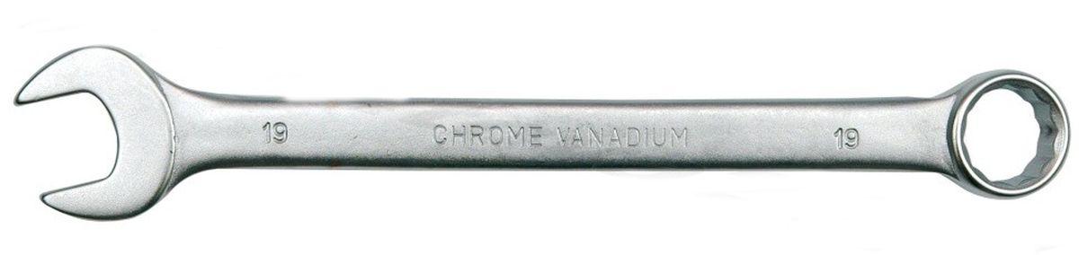 Ключ комбинированный Vorel Сатин CrV, 17 мм51682Ключ гаечный комбинированный изготовлен из высококачественной хром-ванадиевой стали. Финишное прочное хромированное покрытие защищает ключ от воздействия коррозии, делает его более износостойким и легко очищается от загрязнений.Продуманный профиль накидной части ключа смещает пятно контакта с ребра грани на ее поверхность, что предотвращает повреждение болтов и гаек даже при самых высоких нагрузках. Эргономичный профиль рукоятки ключа позволяет развивать большее усилие без риска повреждения кистей рук.