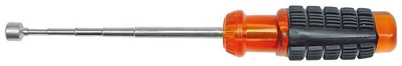 Телескопический магнитный захват Vorel, 53 см78402Магнитный захват - это простой, но очень функциональный инструмент, который используется во многих сферах деятельности, связанных с работой с мелкими металлическими деталями. В частности, это относится к автомобильному ремонту, а также к ремонту оргтехники, компьютерной техники и других подобных устройств.