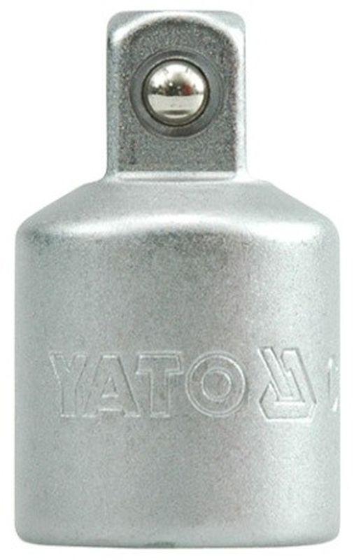 Переходник Yato, 1/2-3/8YT-1255Переходник Yato изготовлен из инструментальной стали CrV. Применяется с воротком. Тип переходника: 1/2-3/8.