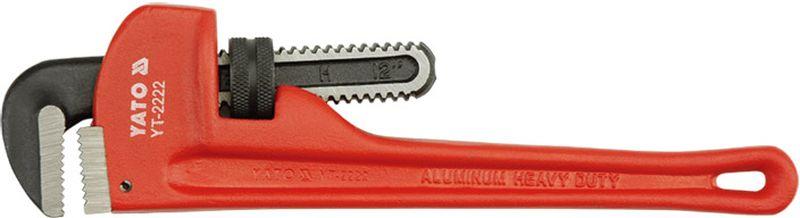 Ключ трубный Yato Stillson, изогнутый, с ПВХ-покрытием, 350 ммYT-2203Ключ трубный Yato Stillson используется для монтажа и демонтажа у трубных резьбовых соединений. Ключ эффективен в работе благодаря егоспециальной усиленной конструкции. Инструмент имеет покрытие из ПВХ.Длина: 350 мм