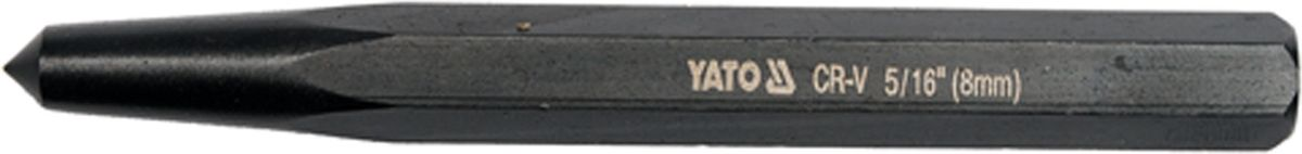 Кернер Yato, 8 х 112 ммYT-47151Кернер Yato - ручной слесарный инструмент, предназначен для разметки центральных лунок для начальной установки сверла и иной визуальной разметки. Изделие выполнено из инструментальной стали CrV.Размер: 8 х 112 мм.