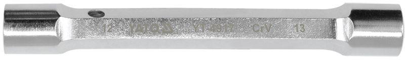 Ключ торцевой Yato, кованный, 12 х 13 ммYT-4917Торцевой кованный ключ Yato изготовлен из стали и предназначенный для закручивания деталей, расположенных в труднодоступных местах, когда применение других типов ключей невозможно, например, в углублениях. Широко применяется для крепления колес автомобилей. Форма головки - двенадцатигранник.Размер ключа (метрический): 12 х 13 мм.