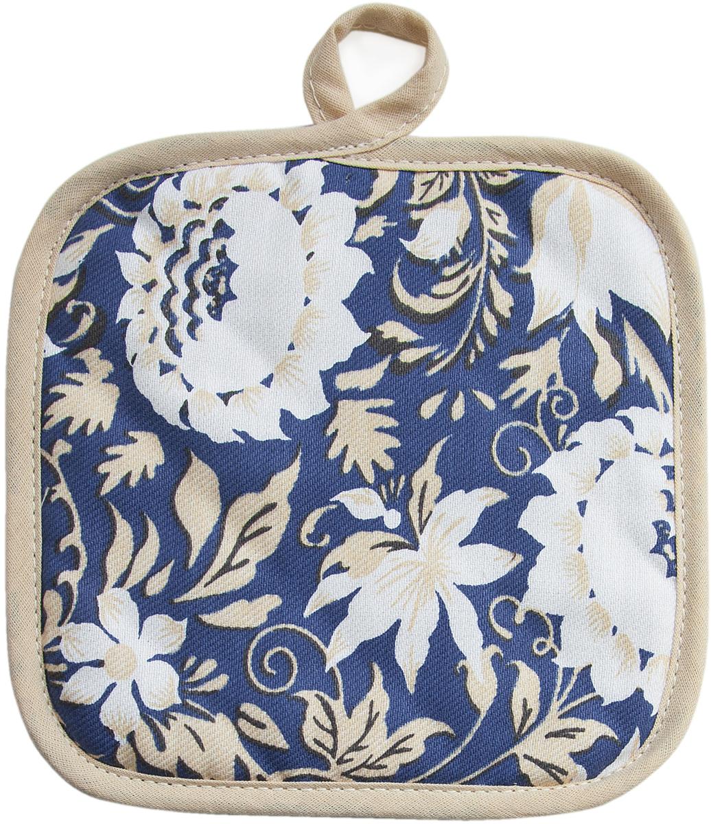Прихватка Bonita Белые росы, 18 х 18 см15010816717Прихватка Bonita выполнена из натурального хлопка и декорирована оригинальным рисунком. Изделие оснащено специальной петелькой, за которую его можно подвесить на крючок в любом удобном для вас месте. Такая прихватка красиво дополнит интерьер кухни.