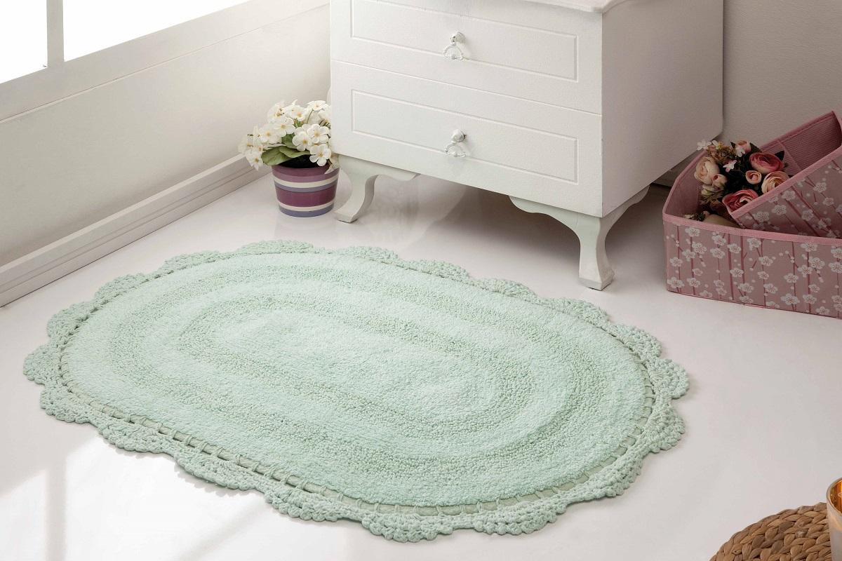 Коврик для ванной Karna Modalin. Diana, цвет: светло-зеленый, 50 х 80 см аксессуары для ванной и туалета modalin коврик для ванной evora цвет кремовый 50х70 см