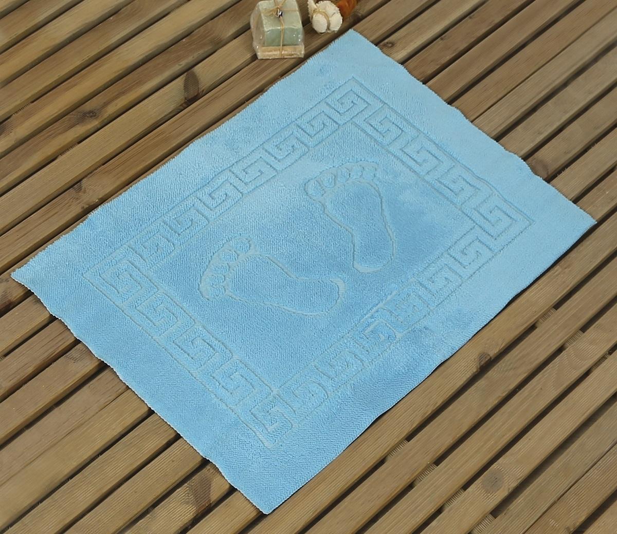 Коврик для ванной Karna Likya, цвет: бирюзовый, 50 х 70 см631/CHAR006Коврик печатный Karna сделан из 100% полиэстера. Полиэстер является синтетическим волокном. Ткань, полностью изготовленная из полиэстера, даже после увлажнения, очень быстро сохнет. Коврик из полиэстера практически не требователен к уходу и обладает высокой устойчивостью к износу.Коврик из полиэстера не мнётся и легко стирается, после стирки очень быстро высыхает. Материал очень прочный, за время использования не растягивается и не садится. А так же обладает высокой влагонепроницаемостью.Размер: 50 х 70 см.