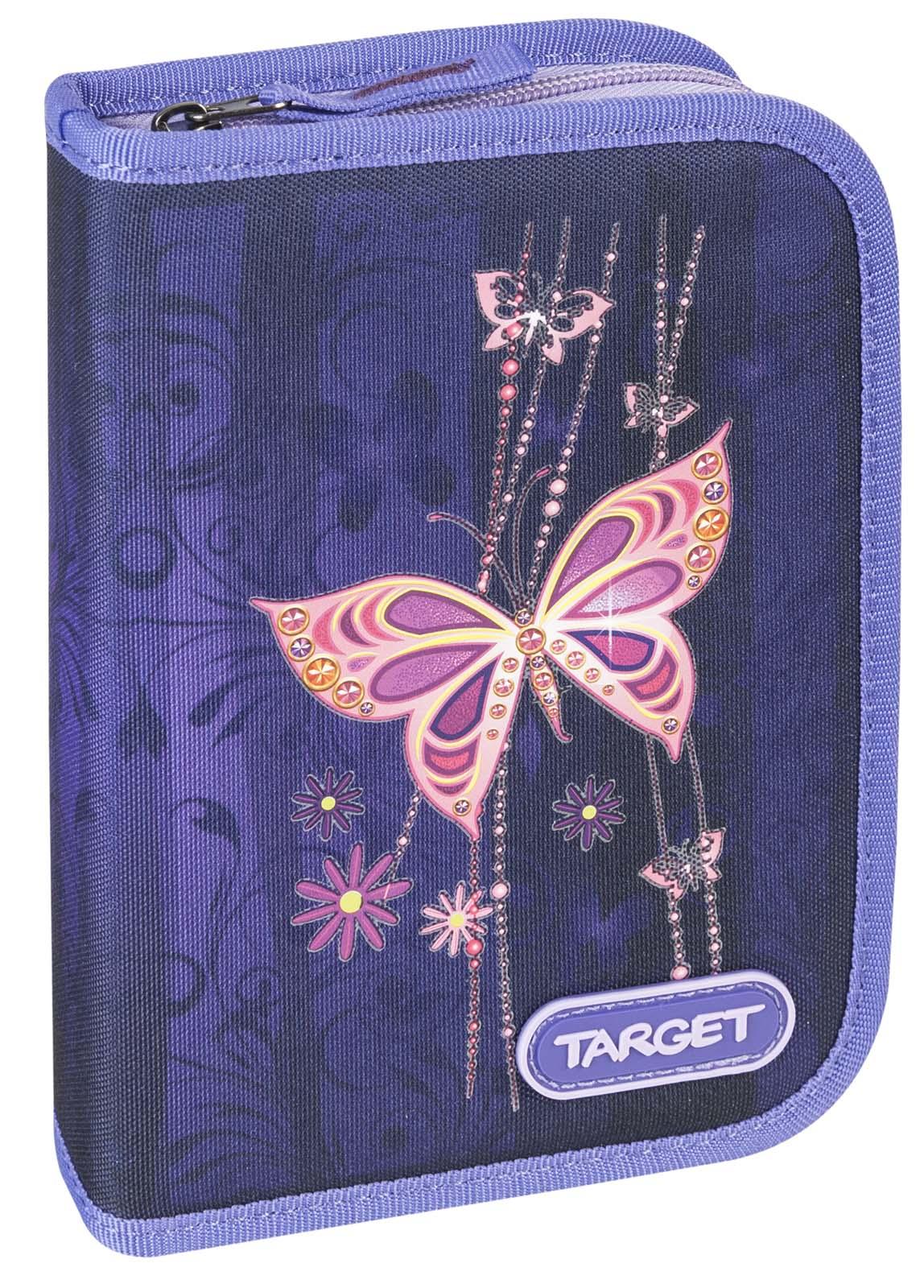 Target Collection Пенал Золотая бабочка с наполнением