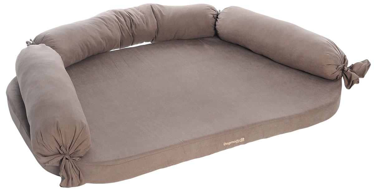 Диван для собак Dogmoda Чикаго, цвет: светло-коричневый, 130 x 80 х 24 см лежаки для животных dogmoda диван чикаго 3