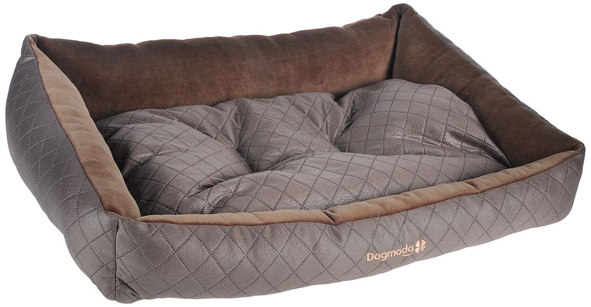 Лежак для животных Dogmoda Шоколад, 74 х 61 х 21 см лежак дарэлл хантер лось 2 с подушкой 55 40 16см