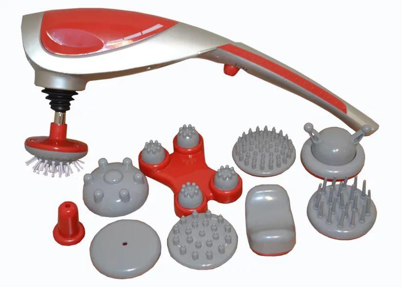 Zenet ZET-718 Массажёр ручной WH-301615032018Принцип действия - Вибромассаж и ИК прогрев Предназначен для проведения расслабляющего, восстанавливающего, стимулирующего, антицеллюлитного массажа, массажа акупунктурных точек.Количество насадок - 10шт Состав комплекта Массажер, Насадки пальчиковые, Насадки роликовые Программ массажа: 2
