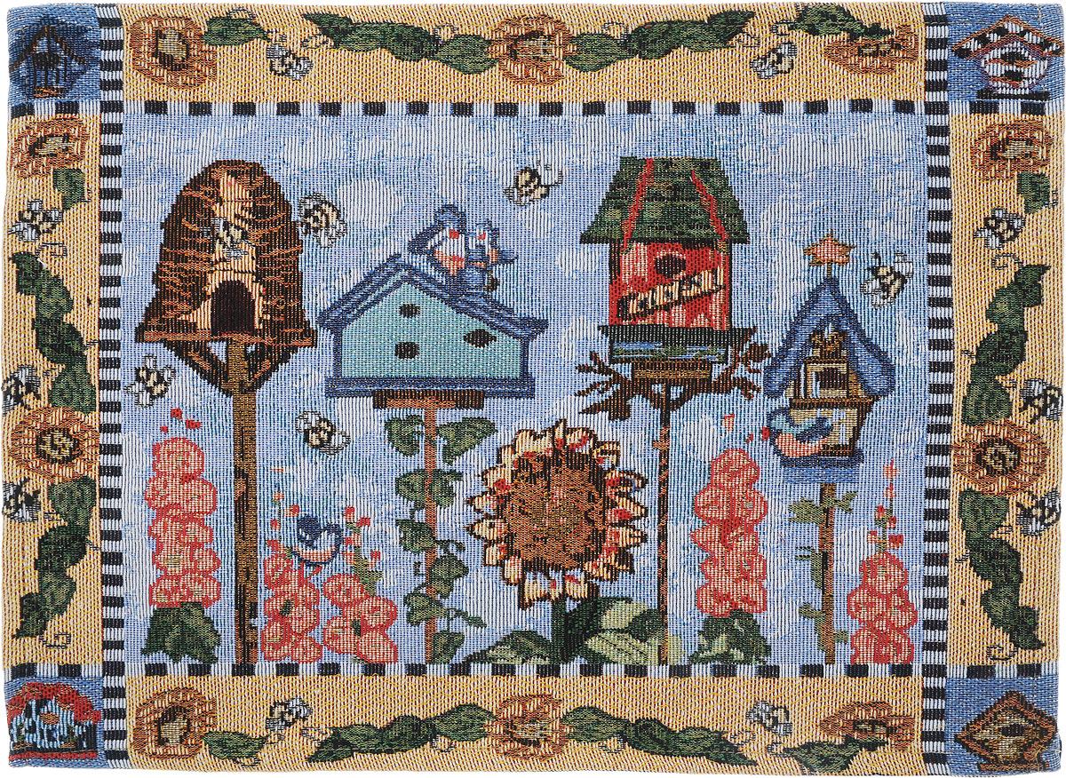 """Салфетка """"Schaefer"""", выполненная из 65% полиэстера и 35% хлопка оформлена  оригинальным рисунком. Изысканный текстиль от компании """"Schaefer"""" - это красота, стиль и уют в   вашем  доме. Благодаря декоративным салфеткам ваш стол заиграет новыми красками,  ведь именно небольшие и милые акценты задают тон и настроение. Дарите себе и  близким красоту каждый день!  Изделие легко стирать (вручную) и гладить, не требует специального ухода.  Размер: 33 см х 46 см."""