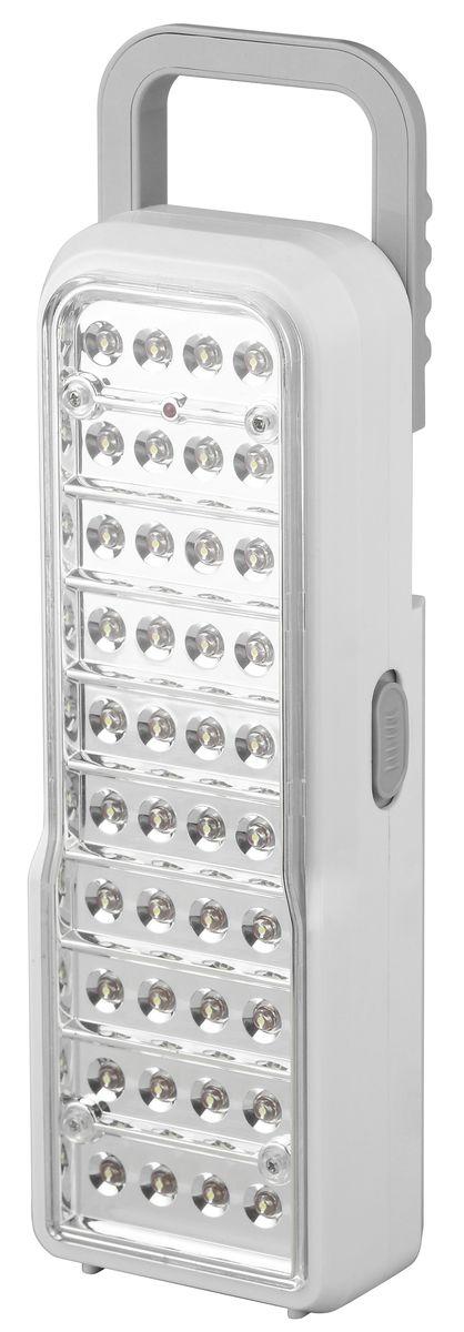 Фонарь ручной Трофи, 40 x LED, аккумулятор 4V 2Ah, ЗУ 220VTL40Аккумуляторный светодиодный фонарь Трофи: 40 белых LED2 режима работыАккумулятор 4V 2AhПодзарядка от сети 220 Вольт