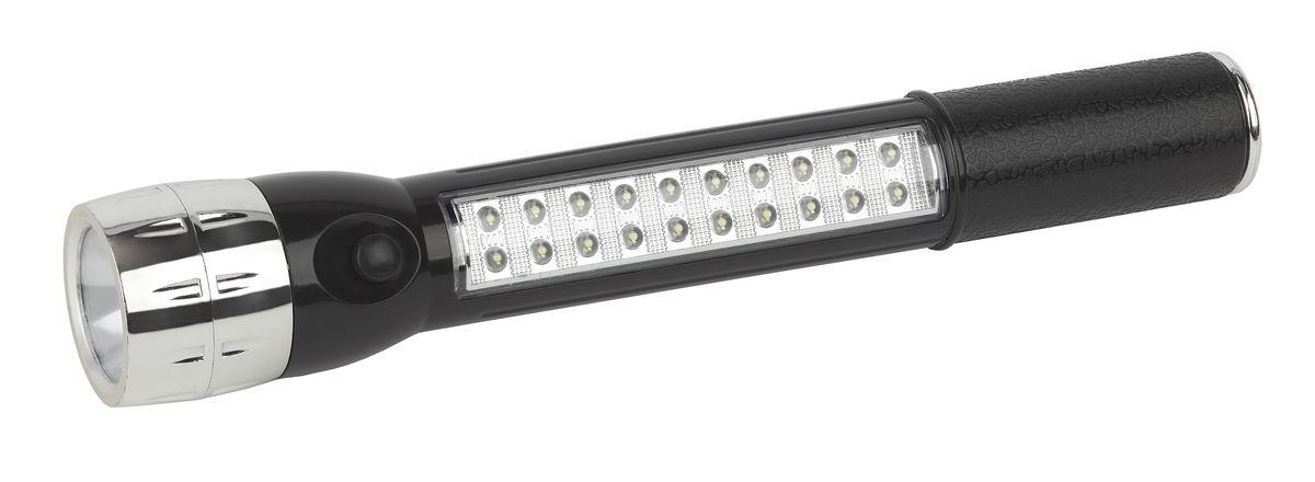Фонарь ручной Трофи, 1 x 0,5 LED+ 20 LED фонарь maglite led светодиод 2d серебристый 25 см в картонной коробке 947232