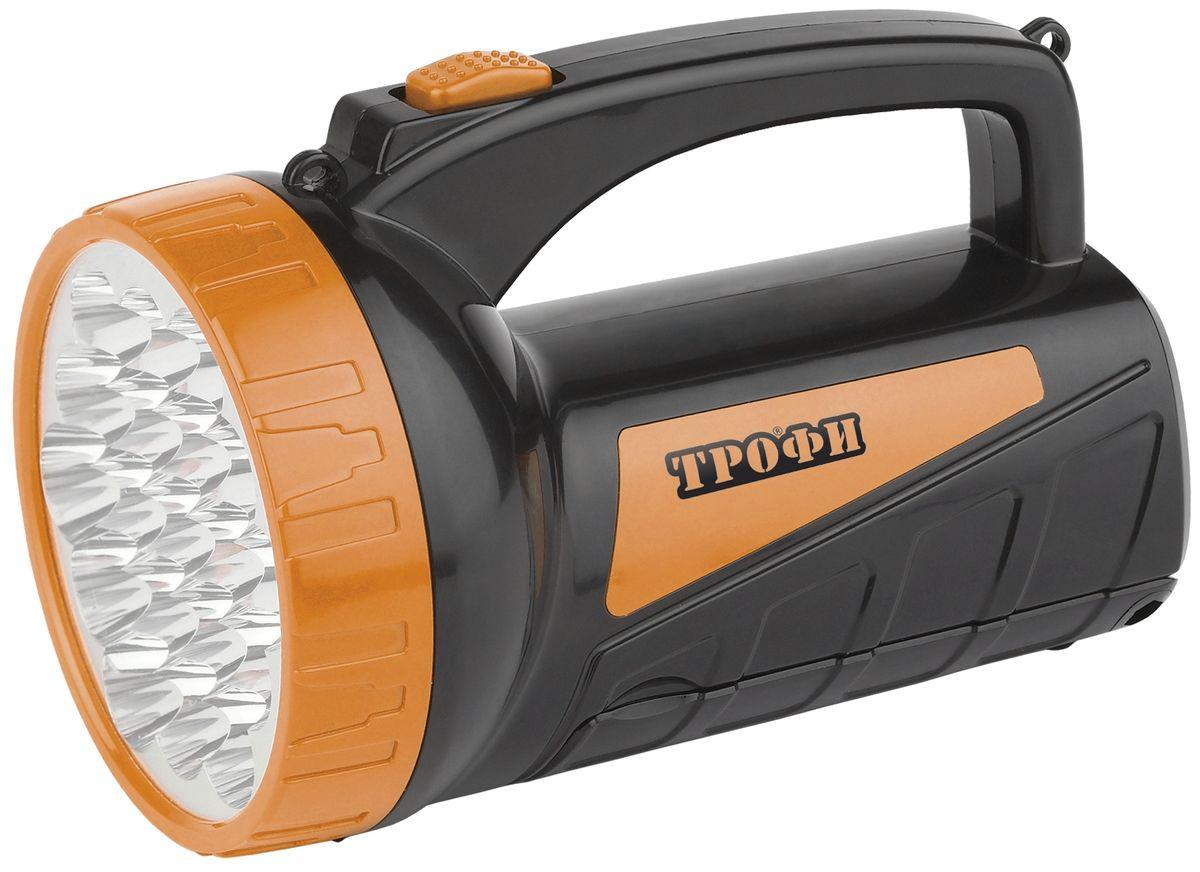 Фонарь ручной Трофи, 19+18 x LED, аккумулятор 4V 2Ah, ЗУ 220VTSP19Аккумуляторный светодиодный фонарь со встроенным светильником Трофи:19+18 белых LED Аккумулятор 4V 2Ah Подзарядка от сети 220 Вольт