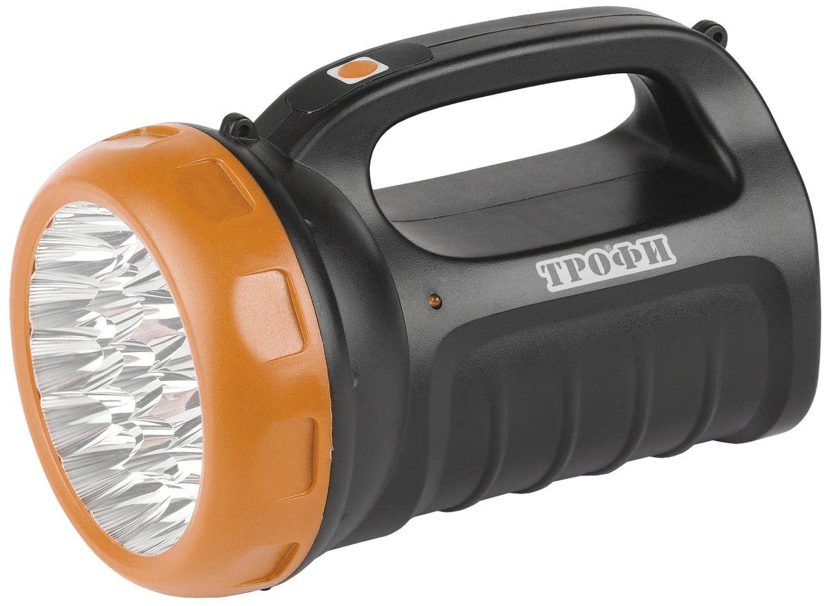 Фонарь ручной Трофи, 23 x LED, аккумулятор 4V 2,4Ah, ЗУ 220VTSP23Аккумуляторный светодиодный фонарь Трофи: 23 белых LED (3 режима работы - 50%, 100%, мигание)Аккумулятор 4V 2,4AhЗарядка от 220 Вольт