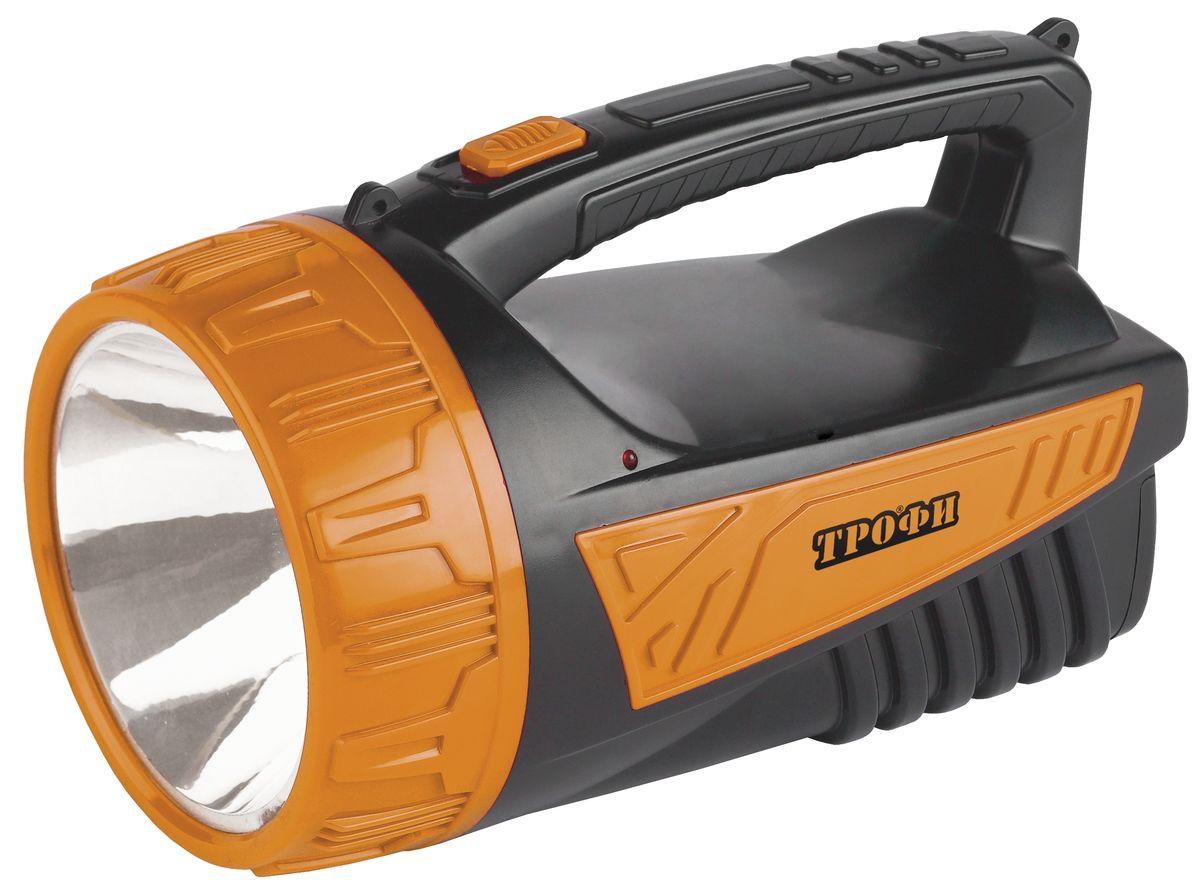 Фонарь ручной Трофи, 3W LED, аккумулятор 4V2Ah, ЗУ 220V фонарь кемпинговый эра 10 smd 1w аккумулятор 4v 900mah зу 220v